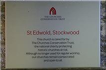 ST5906 : St Edwold, Stockwood by Martin Bodman