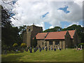 SD5145 : The graveyard, All Saints' Church, Barnacre by Karl and Ali