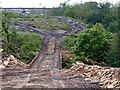 SK2191 : Temporary bridge over Foulstone Dike by Graham Hogg