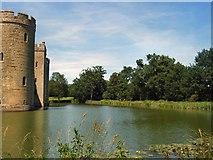 TQ7825 : Bodiam Castle moat by Paul Gillett