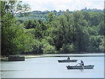 SP9113 : Going Fishing on Tringford Reservoir, near Tring by Chris Reynolds