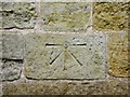 TA0079 : 1GL bench mark and bolt on St Peter's, Willerby by John S Turner