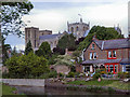 SE3170 : River Skell and Ripon Cathedral by David Dixon
