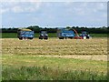 TF1565 : Silage making at Holmes Farm by Oliver Dixon