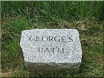 SS4918 : Nameplate for George's Path by Barrie Cann