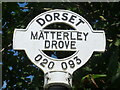 SU0209 : Woodlands: detail of Matterley Drove signpost by Chris Downer