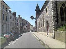 TQ4109 : A277 Lewes High Street south of The Castle by Stuart Logan