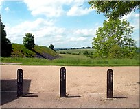 SK1461 : L&NWRyCo Boundary Posts by Des Blenkinsopp