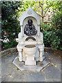 TQ2777 : Drinking fountain commemorating Dante Gabriel Rossetti in Chelsea Embankment Gardens by PAUL FARMER