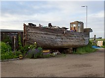TR0262 : The Flower of Faversham Creek, Iron Wharf boatyard by Stefan Czapski