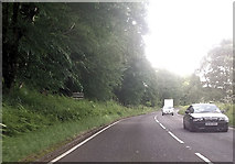 SK0120 : A513 passing Forestry Commission site by John Firth