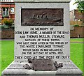 NX9775 : Inscription on the Titanic Memorial, Dock Park by Rose and Trev Clough