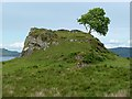 NM7619 : The remains of Ardfad Castle by Walter Baxter