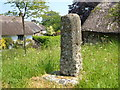 SX6690 : Granite cross, Throwleigh by Derek Harper