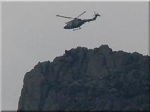 SH6659 : Lynx over Tryfan by Mat Fascione