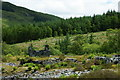 SH6905 : Ruins of Bryn Eglwys Quarry, Gwynedd by Peter Trimming