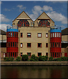 TQ3283 : Flats overlooking City Road Basin, Regent's Canal by Julian Osley