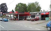 SN9768 : Texaco filling station, East Street, Rhayader by Jaggery
