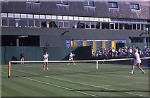 TQ2472 : Wimbledon 1988 - Ladies' doubles match on Court 17 by Barry Shimmon