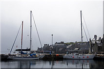 HU4741 : Yachts in the small boat harbour, Lerwick by Mike Pennington
