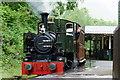SH6706 : No.7 'Tom Rolt' at Abergynolwyn Station, Gwynedd by Peter Trimming