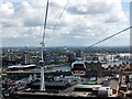TQ3980 : Looking north from Emirates Air Line cable car by PAUL FARMER