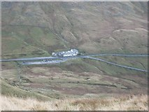 NY4008 : Kirkstone Pass Inn from near Red Screes summit by Graham Robson
