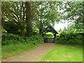SO2341 : Lych gate, Church of St Mary, Cusop by Jaggery