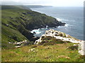 SW4238 : The cliff top at Carn Gloose by Rod Allday
