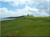 NU2522 : Dunstanburgh Castle Golf Course approaching the 11th tee by Alexander P Kapp