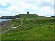 NU2522 : Dunstanburgh Golf Course at the 13th tee by Alexander P Kapp