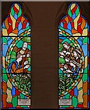 TQ3068 : St Philip, Beech Road, Norbury - Stained glass window by John Salmon