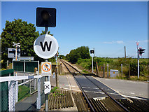 TQ9018 : Crossing without gates, Winchelsea by Robin Webster