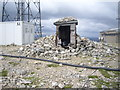 NO1377 : Weather shelter and cairn on The Cairnwell summit by Stanley Howe