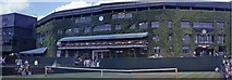 TQ2472 : Centre Court building as seen from Court 5 by Barry Shimmon