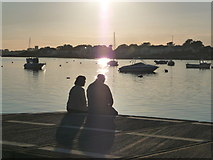 SZ1891 : Mudeford: enjoying the view by Chris Downer
