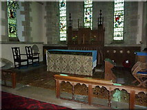 NZ0772 : The Parish Church of St Mary the Virgin, Stamfordham, Altar by Alexander P Kapp