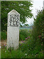 SX0463 : Old milestone at Reperry Cross by Chris Gunns