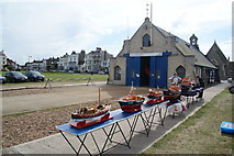 TR3751 : Model lifeboats outside Walmer Lifeboat Station by Bill Boaden