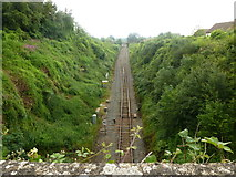ST9897 : Railway line towards Gloucester and Cheltenham by Ruth Sharville