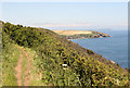 SW8531 : The coast path nr St Anthony by roger geach