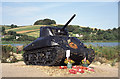 SX8242 : Tank memorial, Slapton Sands by Chris Allen