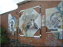 SE2833 : Murals and graffiti at Oddy Locks by Joan Murfitt