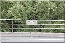 SU5894 : Plaque on Abbey Bridge by Bill Nicholls