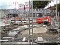 SJ9494 : Hyde Market Renewal Work 7th July 2012 by Gerald England
