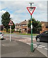 SJ9593 : Road signs by Gerald England