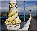 J3474 : Lamppost, Queen's Bridge, Belfast by Rossographer