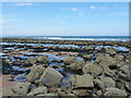 NO5912 : Boulders and rock pools on the shore at Kingsbarns by Richard Law