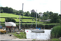 SX4268 : Calstock: by Calstock Boatyard by Martin Bodman
