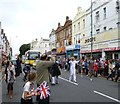 SZ1191 : Boscombe, torch relay bearer (1) by Mike Faherty